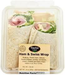 taylor farms ham swiss wrap 1 ea