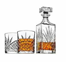 whiskey decanter set for liquor scotch