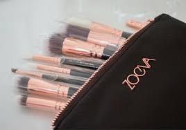 zoeva full set 12 brushes rose golden