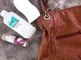 how to clean water stain from leather bag