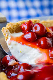 no bake cherry cream cheese pie the