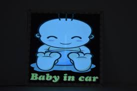 Light Up Baby In Car Sticker Decal Eternity Led Glow