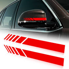 Car Rearview Mirror Side Decal Stripe Vinyl For Ford Focus Fusion Ecosport Kuga Mondeo Everest Transit Custom Tourneo Custom Car Stickers Aliexpress