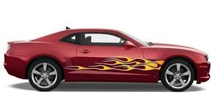 Ice Side Flames Car Decals Dezign With A Z