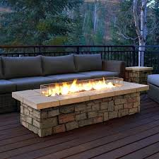 gas fireplace patio fire pit table