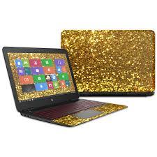 Skin Decal Wrap For Hp Omen Laptop 15t Gold Glitter Walmart Com Walmart Com