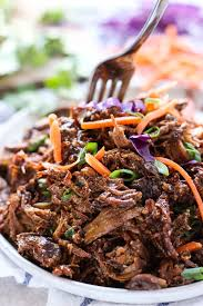 slow cooker asian shredded pork