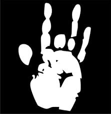 Amazon Com Evan Decals Jerry Garcia Hand Stencil Window Decal Vinyl Sticker 4 Automotive