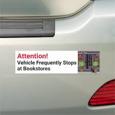 Vehicle Makes Frequent Stops At Bookstores Car Magnet Zazzle Com