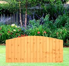 Dome Featheredge Fence Panel 6 Wide X 3 High A P Fencing