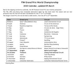 MotoGP re-schedules Thai GP to October, Aragon GP in September