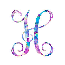 Amazon Com Letter H Monogram Initial Vinyl Decal Personalized Monogrammed H Sticker For Yeti Cup Tumbler Laptop Water Bottle Or Car Window Accessories For Women 3 25 Inches Watercolor Pattern Handmade