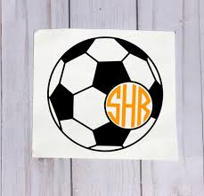 Soccer Monogram Decals For Yeti Cups Soccer Decal Soccer Etsy