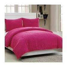 twin full size bed solid hot pink faux