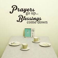 Vinyl Wall Decal Prayers Go Up Blessings Come Down Removable Letters For Sale Online Ebay