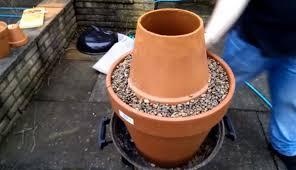 diy tandoor oven with flower pots