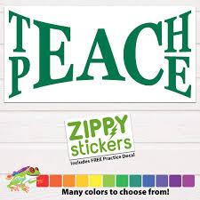 Teach Peace Decal Custom Vinyl Sticker Unity Peace Decal Teach Peace On Earth School Teacher Decal Personalized For Handmade