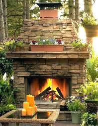 outdoor patio fireplace ideas with
