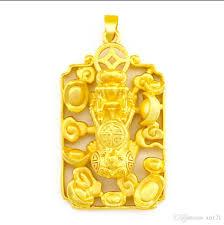 gold ingot word leather break pendant
