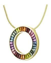 rainbow sapphire circle of life pendant