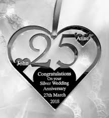silver wedding 25th anniversary gift