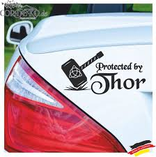 Car Decal Protected By Thor Bumper Sticker Vinyl Thor S Etsy