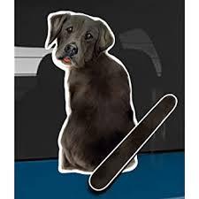 Amazon Com Wagging Wipers Black Lab Dog Car Rear Wiper Sticker Decal Automotive