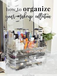 how to organize your makeup collection