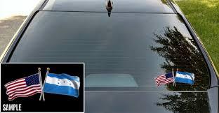 Honduras And American Flag Crossed Vinyl Decal Honduras Usa Etsy