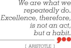 Excellence Aristotle Wall Sticker Tenstickers