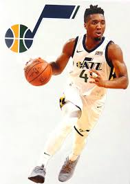 Amazon Com Donovan Mitchell Mini Fathead Graphic Utah Jazz Logo Official Nba Vinyl Wall Graphics This Graphic Is 7 Inches Tall Arts Crafts Sewing