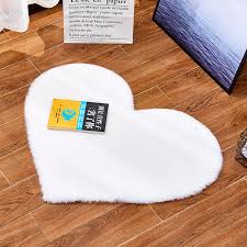 Love Heart Model Fluffy Rugs Artificial Rabbit Hairy Carpet Fur Rug For Kids Room Recliner Chaise Longue Seat Pad Carpet Aliexpress