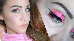 glam pink eyeshadow cat eye makeup