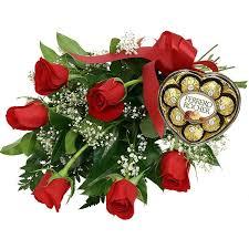 half a dozen roses with chocolates