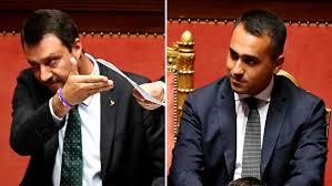 Zoom su Salvini e Di Maio: le loro facce durante il discorso di ...