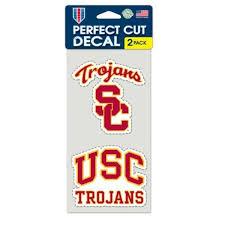 Shop Usc Trojans Decal Die Cut Set Of 2 Overstock 22203266