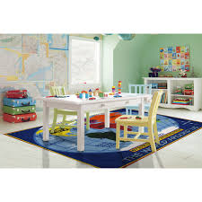 Shop Kids World Map Blue Nylon Area Rug 5 3 X 7 6 Overstock 9602100