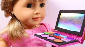 diy ag american doll makeup you