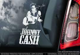 Johnny Cash Car Window Sticker Country Rock Roll Music Decal Rockabilly V1 Ebay