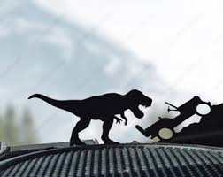 Car Vinyl Decal Dinosaur Decals Trex Decal Vehicle Etsy
