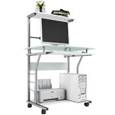 computer desk with glass tabletop