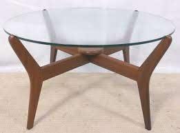 round glass top 1960 s retro coffee