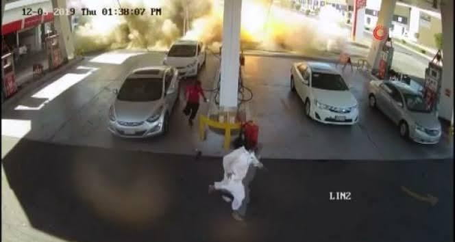 """Medine'de benzin istasyonunda patlama ile ilgili görsel sonucu"""""""