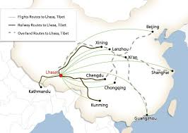 main gateway cities to travel to tibet