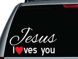 Jesus Loves You Vinyl Car Decal Vinyl Decal Window Decals Vintage Signs Vinyl Wall Decals Car Truck Car Decals Car Decals Vinyl Vinyl Wall Decals