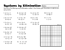 linear equations by elimination