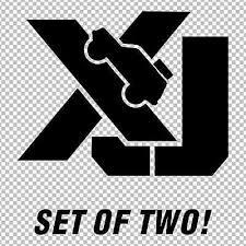 Xj Jeep Cherokee Set Of 2 Decals Stickers Window Bumper Custom Decals Ebay