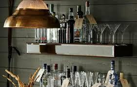 mahogany rustic wood wine glass shelf