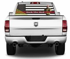 Back The Red Firefighter Wrap Rear Window Graphics Decal Sticker 144 Ebay