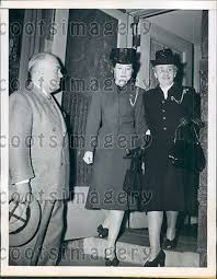 1947 Georgia Governor Melvin Thompson With Wife & Mother Press ...